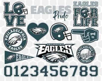 Philadelphia Eagles SVG, Philadelphia Eagles Files, Instant Download Football Files, Cricut, Cameo, Vinyl Machine, DXF EPS png jpg pdf - 026