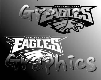 Philadelphia Eagles Alternate Logo Single Color - SVG - DXF - EPS - Vectors