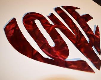 LOVE heart metal to hang