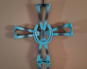 Forged railroad spike cross can be customized anyway you would like