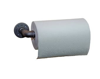Industrial Pipe Paper Towel Holder Wall Mount