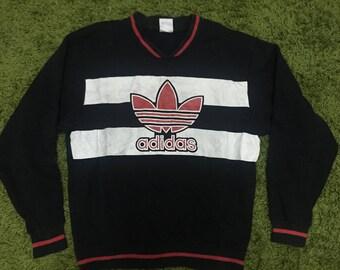 Adidas Big Logo Spellout Pullover Jumper Sweatshirt