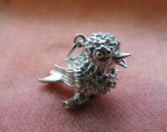 D) Vintage Sterling Silver Charm Chick / bird