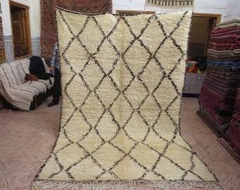 Vintage beni ourain rug, moroccan carpet, pure wool rug, berber carpet, berber rug, handwoven rug, area rug