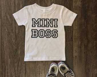 Mini boss shirt- girls shirt- boys shirt- mini boss onesie- sassy girls shirt- sassy onesie
