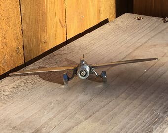 Airplane From Recycled Silverware FREE SHIPPING