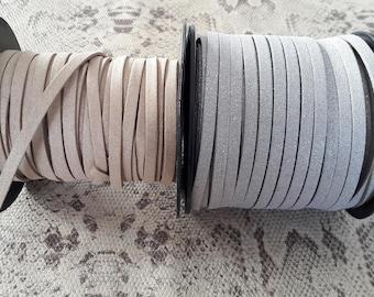 Cord flat suede 5 mm glitter