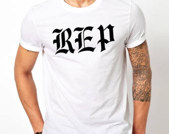 Mens White New Taylor Swift Reputation REP Only Graphic T-Shirt Shirt Fashion Tee - Free Shipping