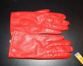 Vintage Red Leather Glover