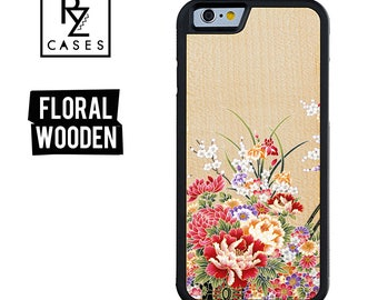 Wooden Phone Case, Floral Phone Case, Wooden iphone Case, Floral iphone, iPhone 7 Case, iphone 6, Wooden Floral, Gift for Her, iPhone 6s