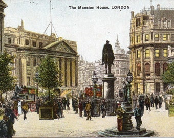 Mansion House in London's Square Mile, 1909