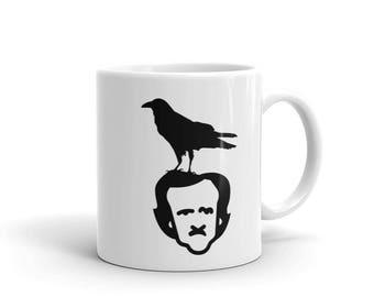 The Raven and Edgar Allan Poe Funny Poem Mug