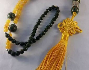 Silk tassel necklace