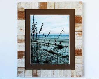 XL Rustic Weathered Wood Inlay Frame with ORIGINAL Wooden Matting - rustic frame, wooden frame, wooden matted frame, wood matting frame
