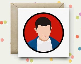 Stranger Things Square Pop Art Card & Envelope