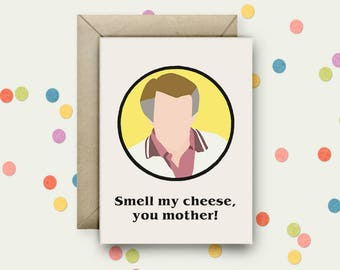 Alan Partridge Pop Art and Quote A6 Blank Greeting Card with Envelope