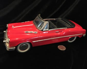 1950s Red/Black Buick Friction Standard Sedan Voiture MF 321 Toy Car- Made in the 1980s
