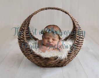 Digital Backdrop Newborn Basket