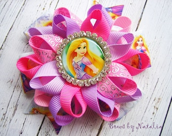 Rapunzel Hair Bow Disney PrincessTangled hair bow Rapunzel Princess bow