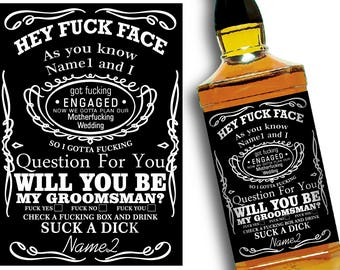 Will you be my Groomsman Label for Whiskey, Groomsman Proposal, Groomsman Gift, Asking Groomsmen, Wedding Invitation Labels, Groomsmen Card