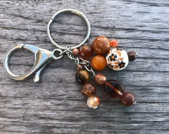 Keychains for Women, Beaded Bag Charm, Purse Charm for Handbags, Beaded Handbag Charm, Keyring, Beaded Keychain, Beaded Purse Charm, Gift