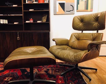 Mid Century Selig Eames Style Lounger And Ottoman