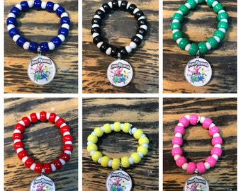 Power rangers party favors .power rangers bracelet power rangers necklace.power rangers party