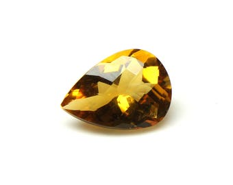 Amazing Natural Citrine Faceted Pear Checker Cut with Nice cutting 8.5X11.5X5.8 MM Citrine Oval CODE CT02