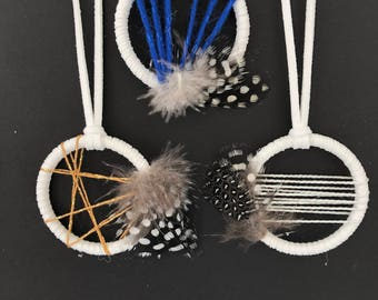 Holiday party favors - set of 3 - mini dream catchers