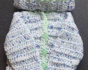 Handmade crochet cardigan set
