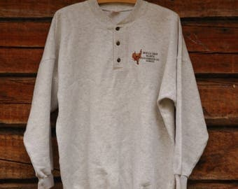 VINTAGE College shirt with brass buttons