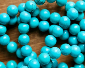10mm natural Turquoise beads, full strand, natural stone beads, round, 10003
