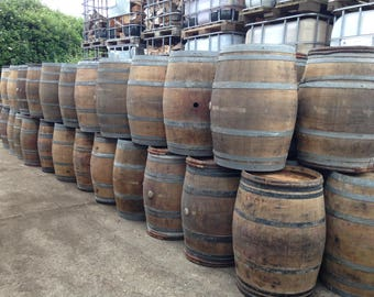 French oak wine barrels