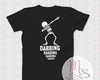Dabbing T Shirt, Unisex, Female, Male, Woman, Man,  TShirt, Top, Dabbing, Skeleton