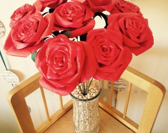 Long-Stemmed Red Roses- Valentine's