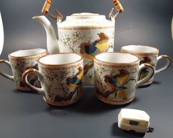 Tea pot with 4 cups ,made in Korea