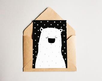 Post Card polar Bear
