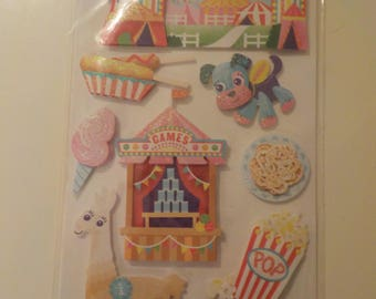 Sticko Carnival Circus Stickers Embellishments die cuts
