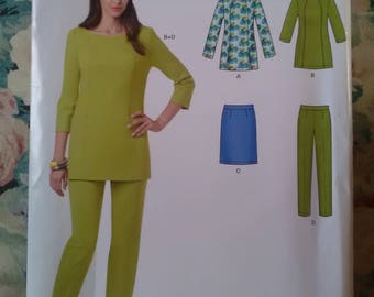 Brand new unused sewing pattern new look 6421 tunic tousers skirt sizes 8 - 18