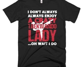 Taekwondo Lady Short-Sleeve T-Shirt
