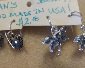 Set of to rhinestone earrings