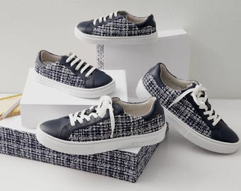 Barbe à Papa Tweed Sneakers Women's