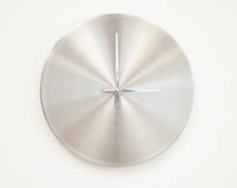 Aluminium Brushed Quartz Clock