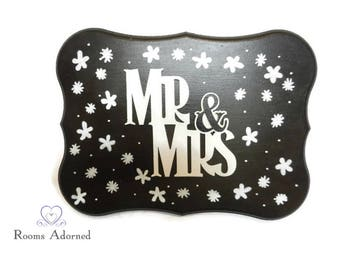 Mr and Mrs Wood Plaque