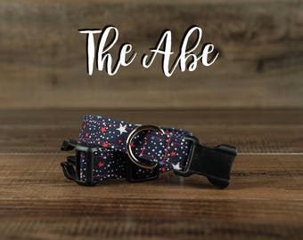 The Abe - Fabric Dog Collar - Adjustable Collar - Custom Fabric