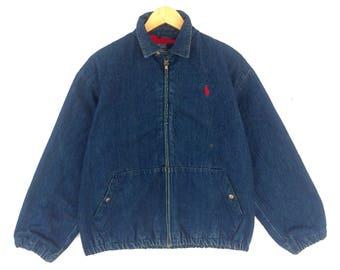 30% Off! Vintage 90's Polo Ralph Lauren Denim Jacket Size L