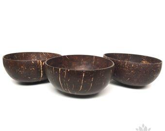 JoJu fruits - coconut Bowl - original coconut shell - 100% natural - set of 3