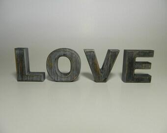 L O V E - Rustic Wooden Letters