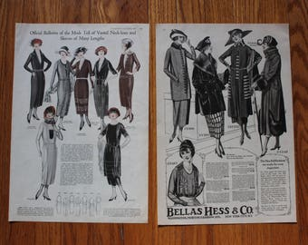 1920's Fashion Ads - Vintage Wall Art