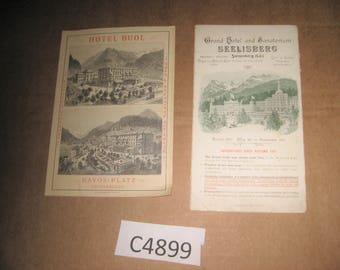 Hotel Buol & Seelisberg Brochures     [c4899o]